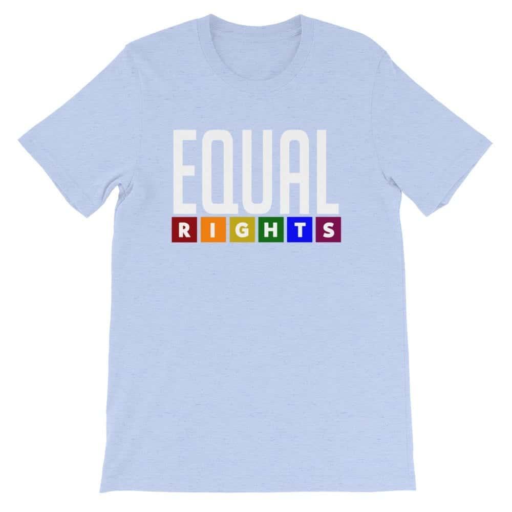 EQUAL RIGHTS LGBTQ Pride Tshirt Light Blue