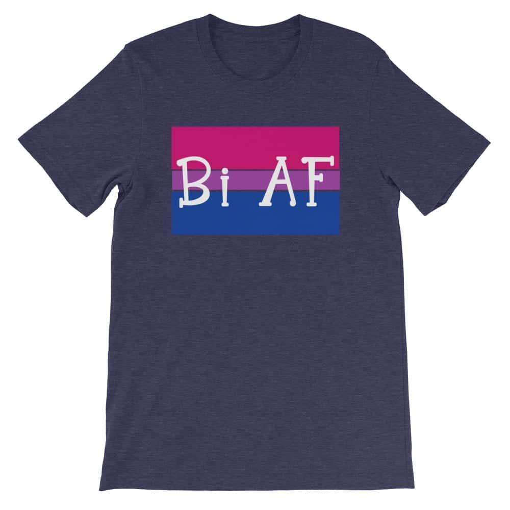 Bi AF LGBTQ Pride Tshirt navy