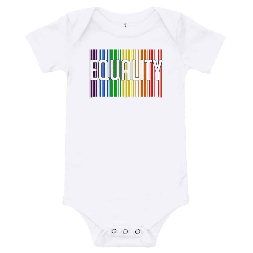 EQUALITY Baby Onepiece Bodysuit White