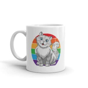 Persian Cat Rainbow Pride Coffee Mug