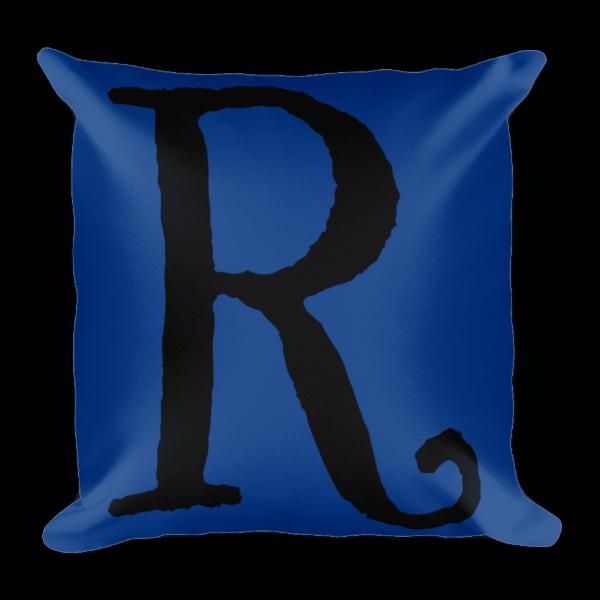 PRIDE Throw Pillow R Blue