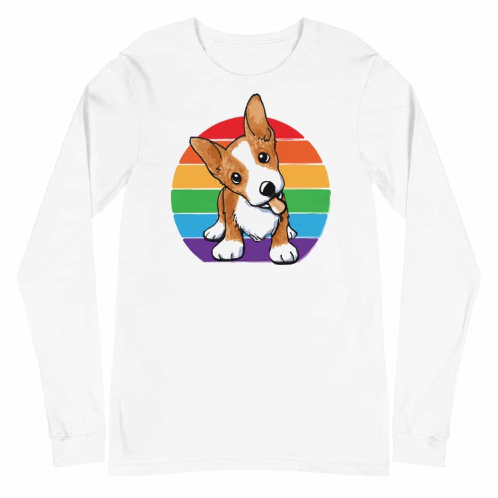 Corgi Pride LGBTQ Long Sleeve Tshirt