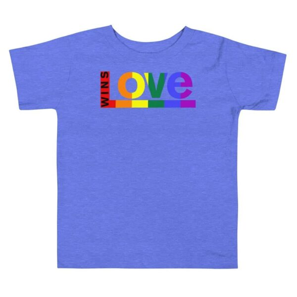 Equal Rights LGBTQ Pride Toddler Tshirt Blue