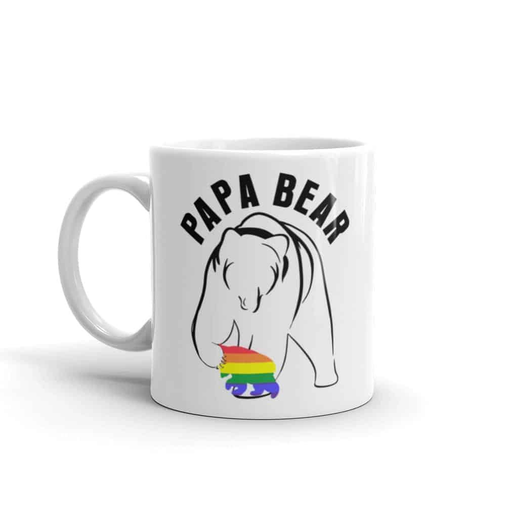 Papa Bear Gay Child Pride Coffee Mug