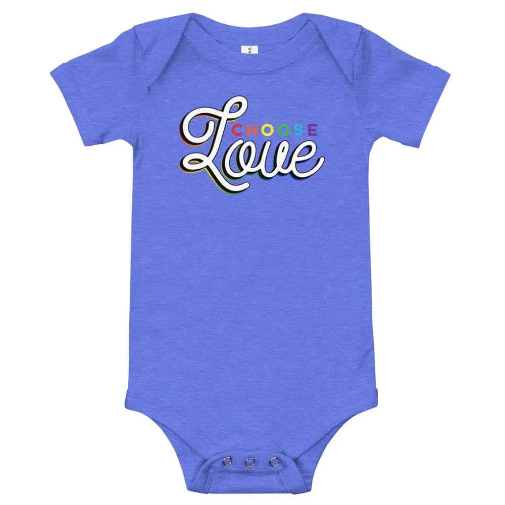 LGBT Choose Love Baby Onepiece Bodysuit
