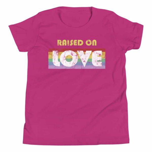 LGBTQ Raised on Love Pride Kid Tshirt