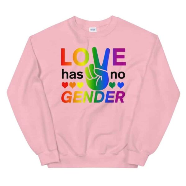 Love Has No Gender Sweatshirt Pink