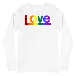 Love Wins LGBTQ Long Sleeve Tshirt White