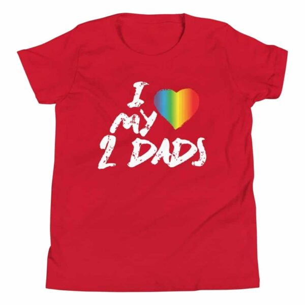 LGBT Pride I Love My 2 Dads Kids Tshirt
