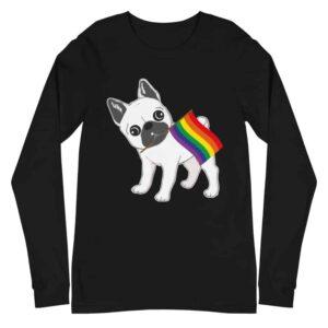 French Bull Dog Gay Pride Long Sleeve Tshirt
