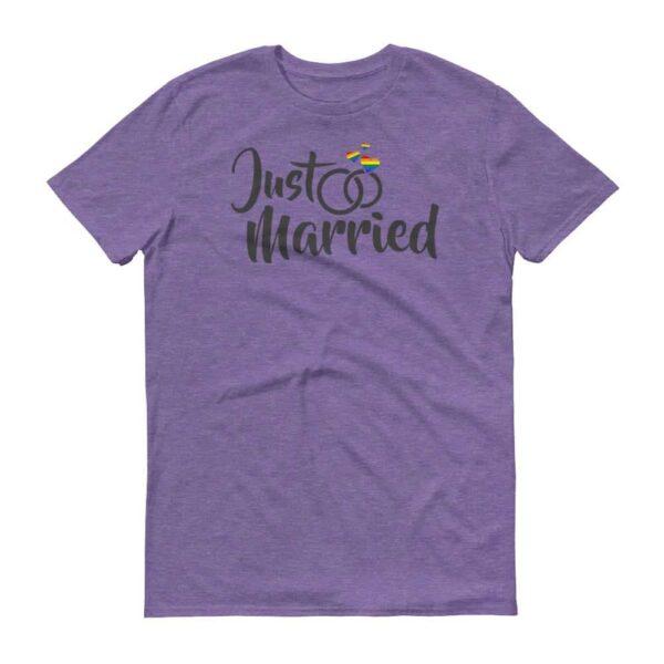 Gay Pride Just Married Unisex Tshirt