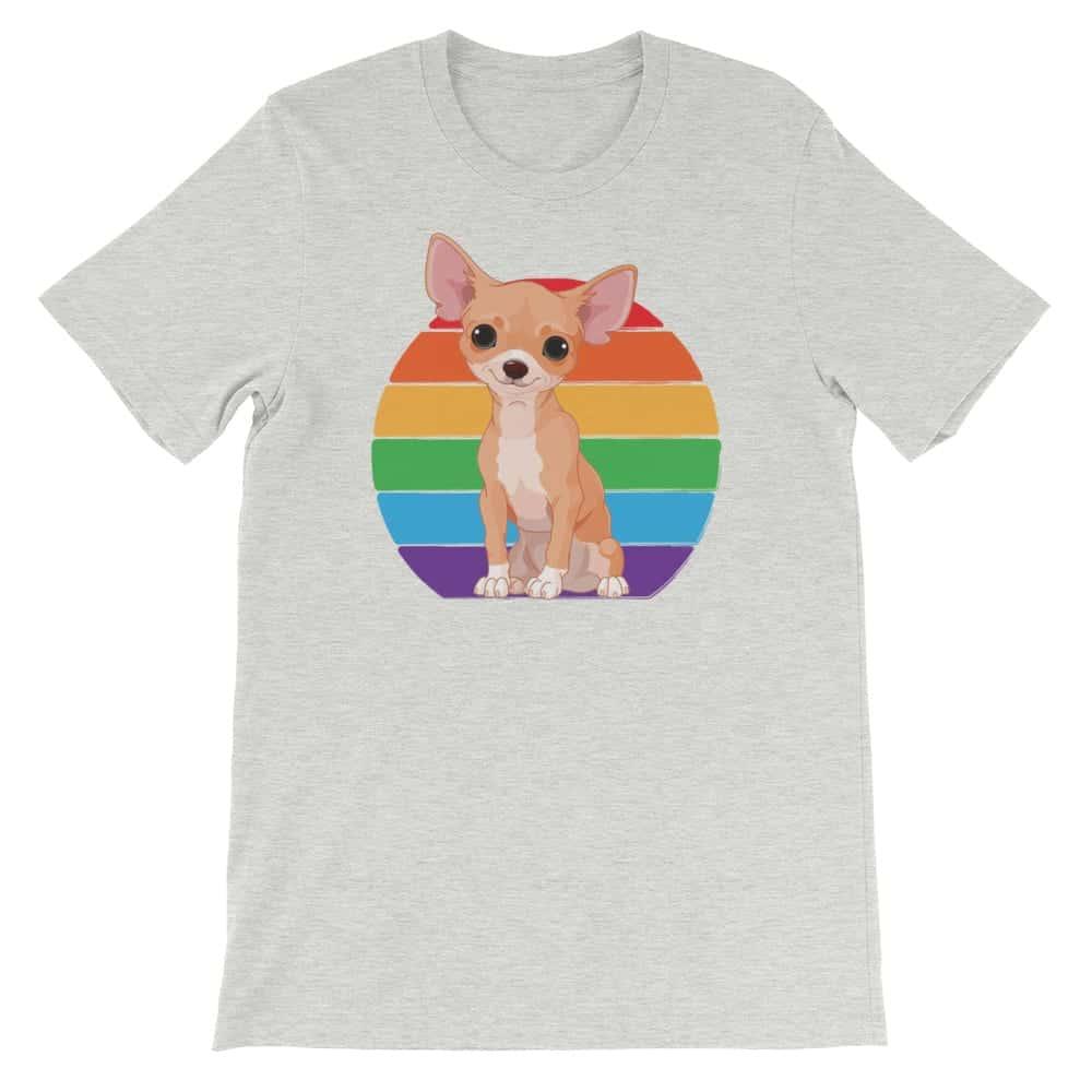 Gay Pride Chihuahua Rainbow Tshirt
