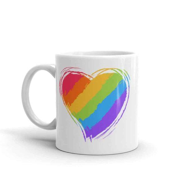 Rainbow Heart LGBTQ Pride Coffee Mug