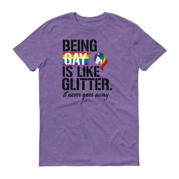 Being Gay Rainbow Unicorn Pride Tshirt