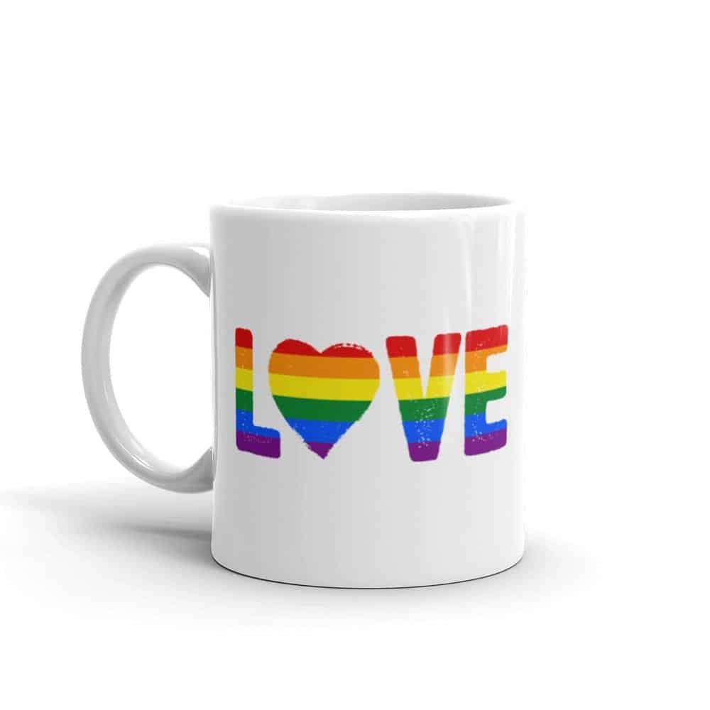 LOVE Rainbow Pride Coffee Mug