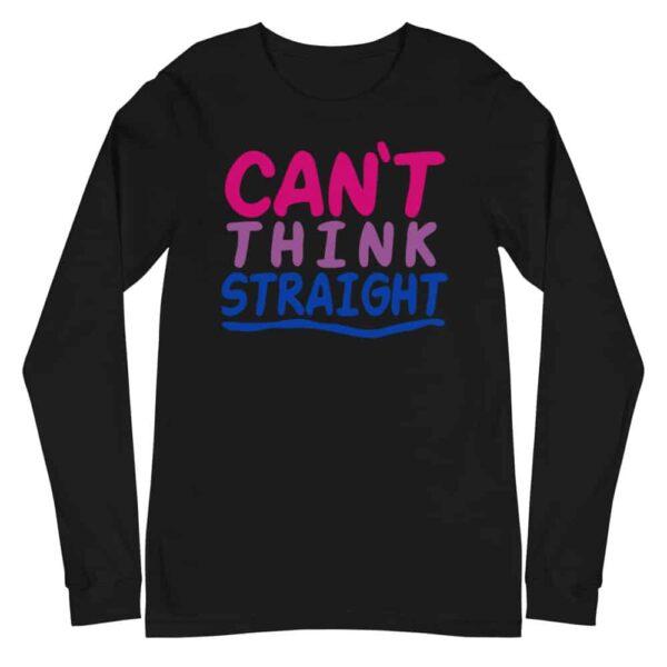 Can't Think Straight Bi Pride Long Sleeve Tshirt