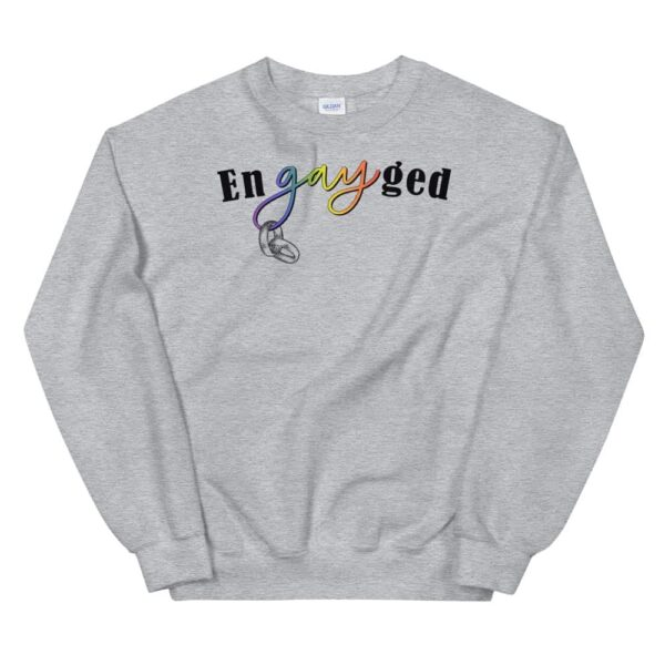 enGAYed LGBTQ Pride Sweatshirt Grey