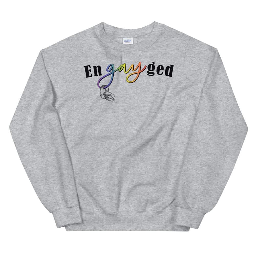 enGAYed LGBTQ Pride Sweatshirt Grey