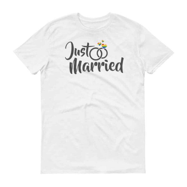 Unisex Just Married Gay Pride Tshirt