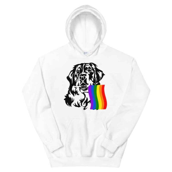 Rainbow Pride Hoodie St. Bernard Dog
