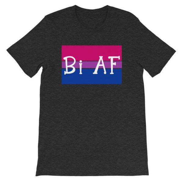 Bi AF LGBTQ Pride Tshirt heather