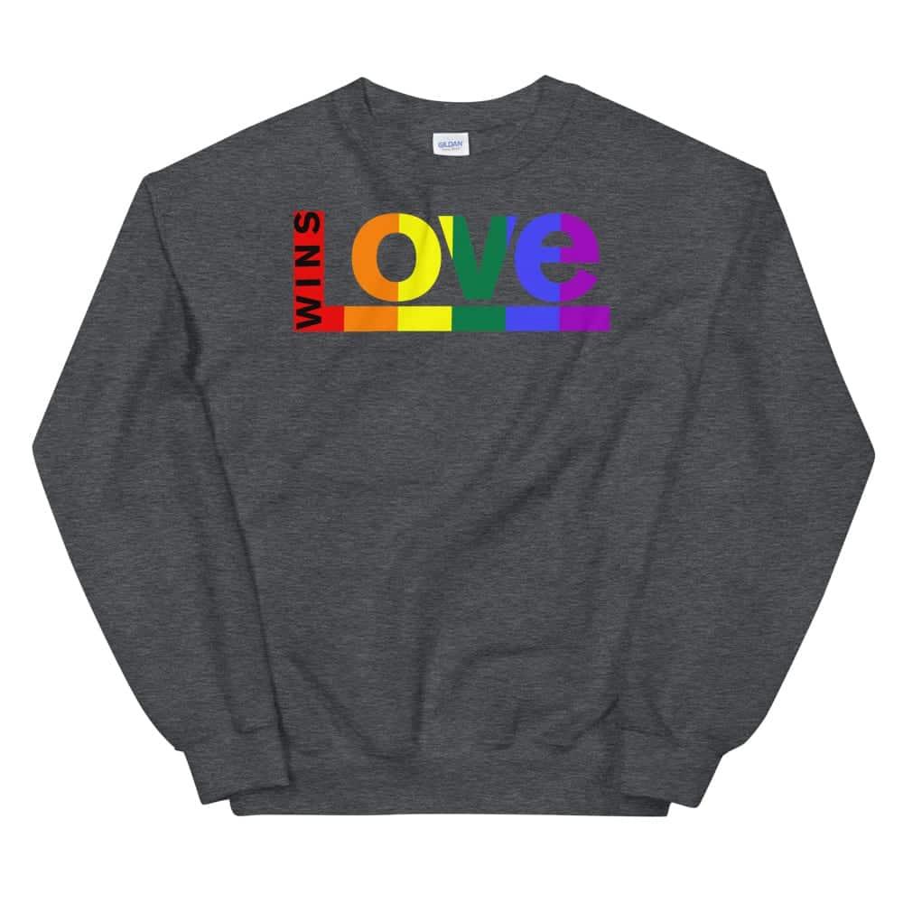 Love Wins LGBTQ Sweatshirt Dark Grey