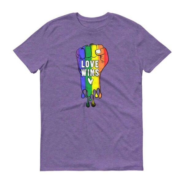 LOVE WINS Pride Tshirt Purple