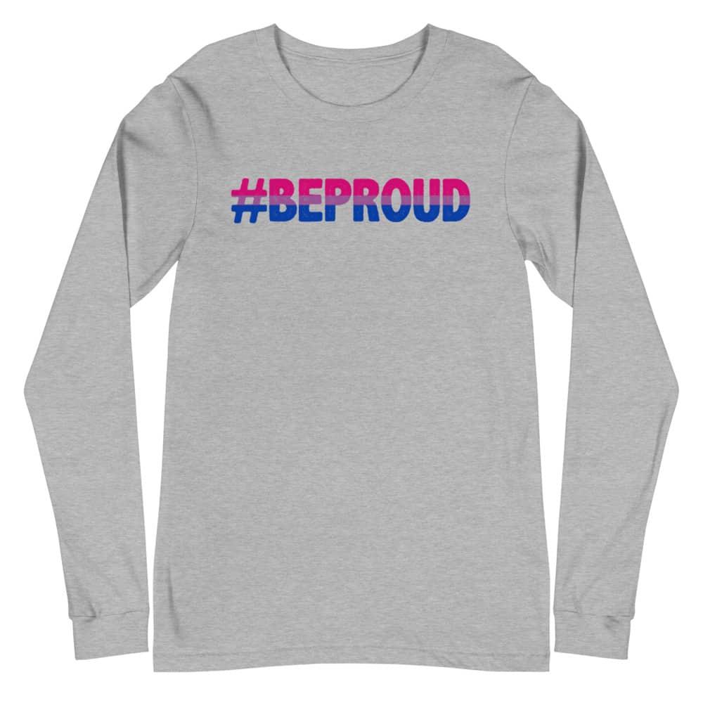 Bisexual Be Proud LGBT Long Sleeve Tshirt