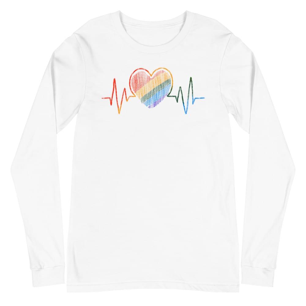 LGBT Heartbeat Gay Pride Long Sleeve Tshirt