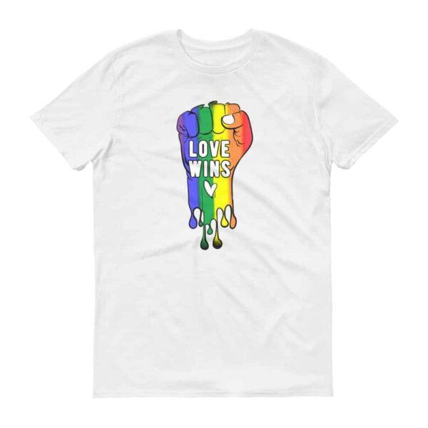 LOVE WINS Pride Tshirt White