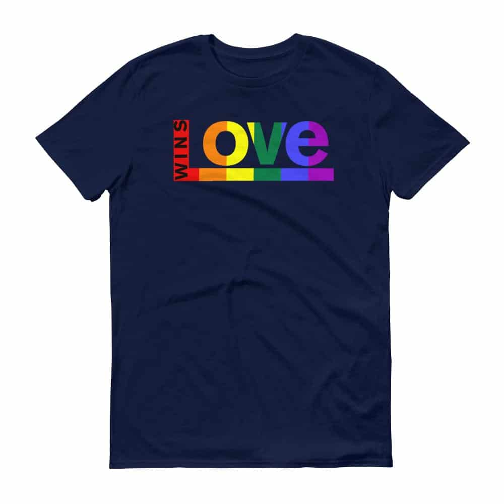 Love WINS LGBTQ Pride Tshirt Navy