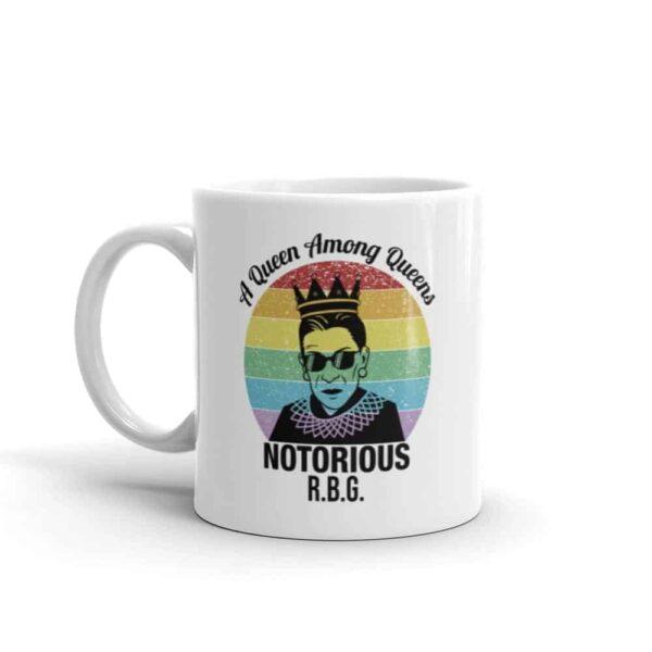 Notorious Queen RBG Gay Pride Coffee Mug