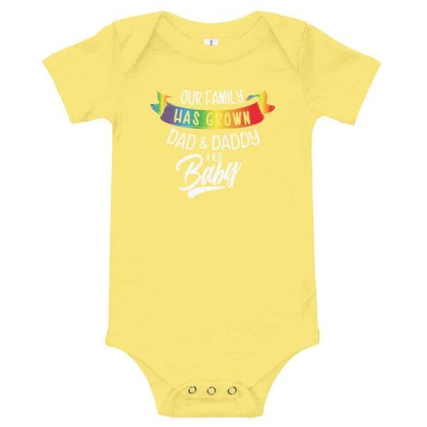 Dad Daddy & New Baby Gay Pride Bodysuit