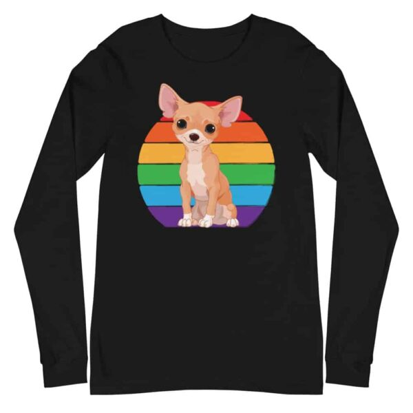Gay Pride Chihuahua Long Sleeve Tshirt