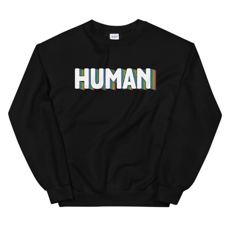HUMAN LGBT Pride Sweatshirt