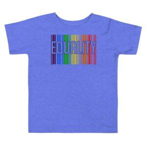 EQUALITY LGBTQ Toddler Tshirt Blue