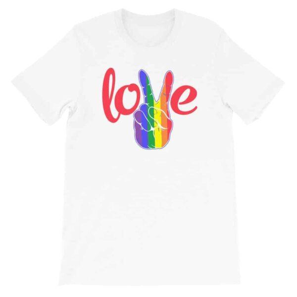 Peace Love LGBTQ PRIDE Tshirt White