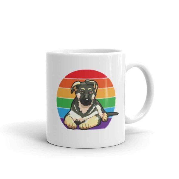 German Shepherd Rainbow LGBTQ Pride Coffee Mug