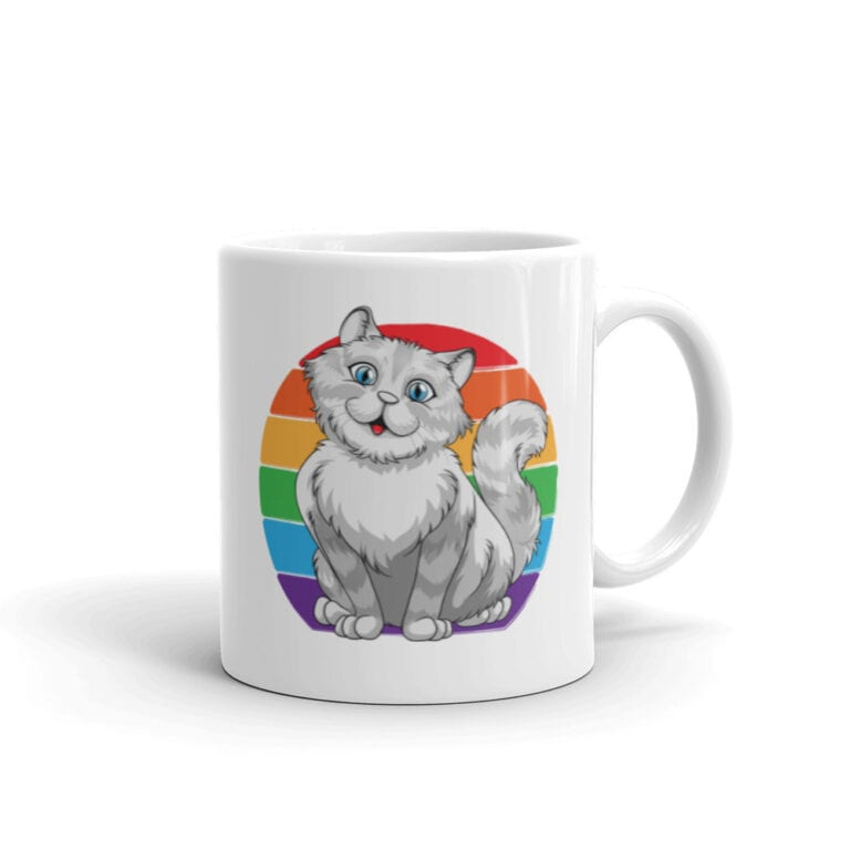 Persian Cat Rainbow Pride LGBTQ Coffee Mug