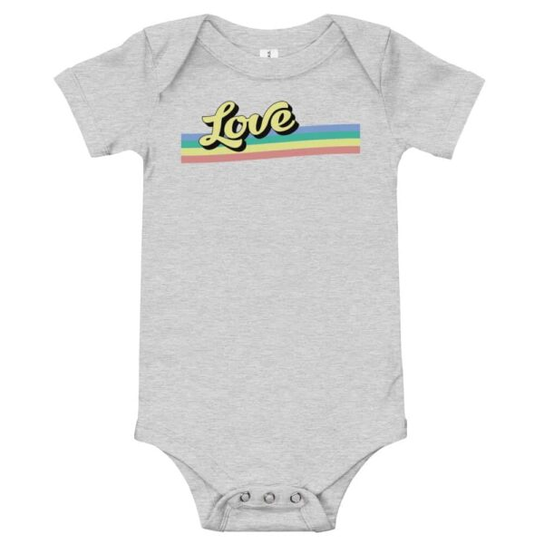 Retro Love Baby LGBT One Piece Bodysuit