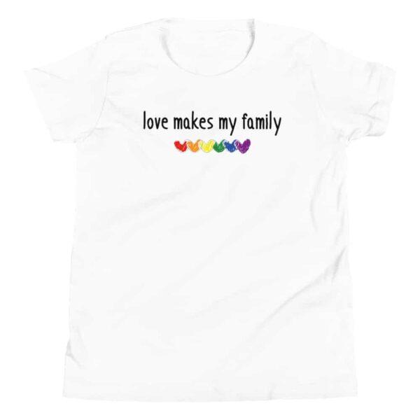 Love Makes My Family Kid Tshirt