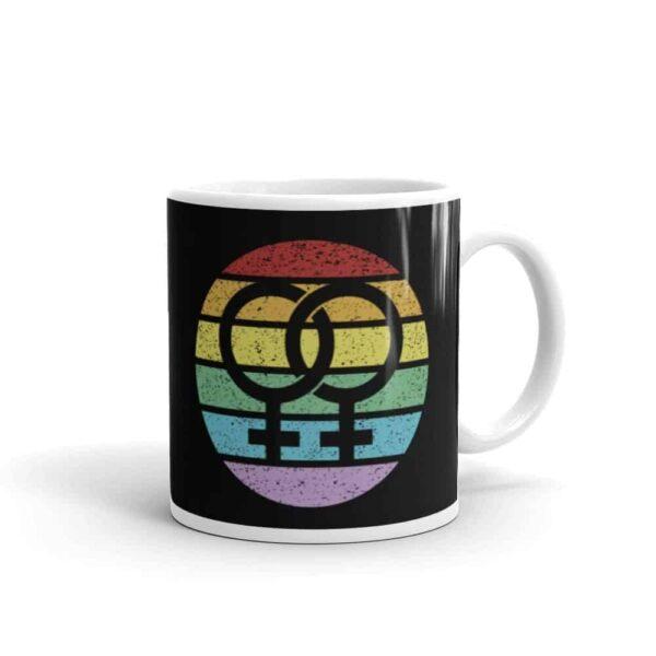 Retro Lesbian Female Symbol Pride LGBTQ Coffee Mug