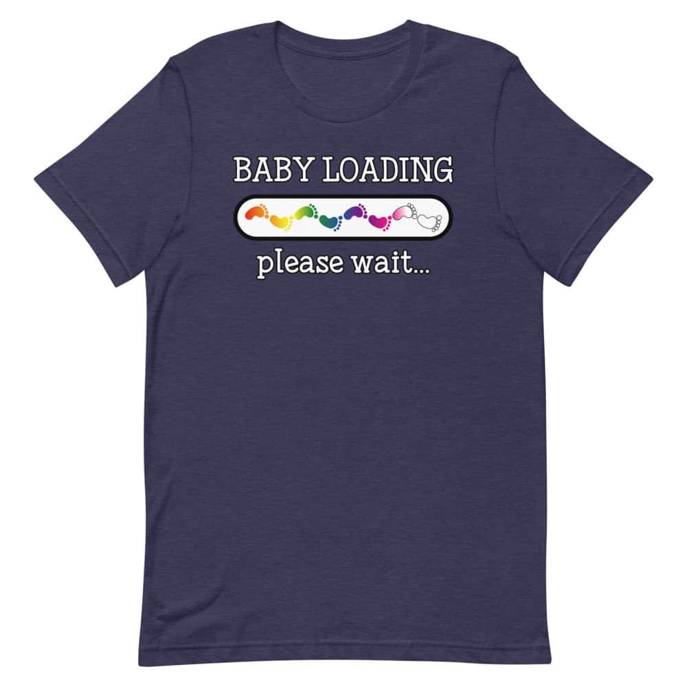 Baby Loading Rainbow Feet LGBTQ Pride Shirt