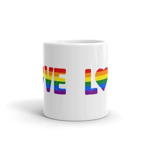 LOVE Rainbow Pride LGBT Coffee Mug
