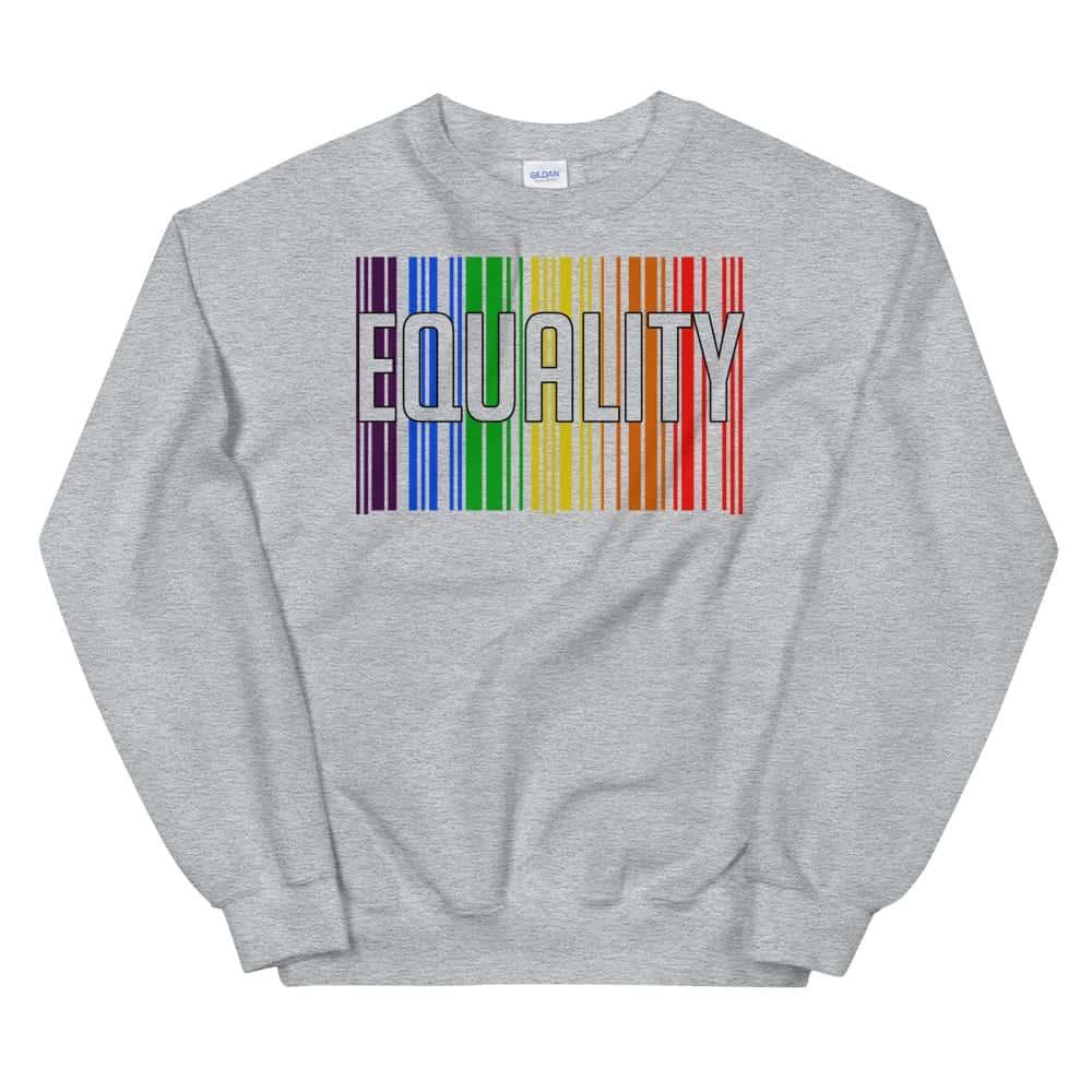 EQUALITY LGBTQ Sweatshirt Grey