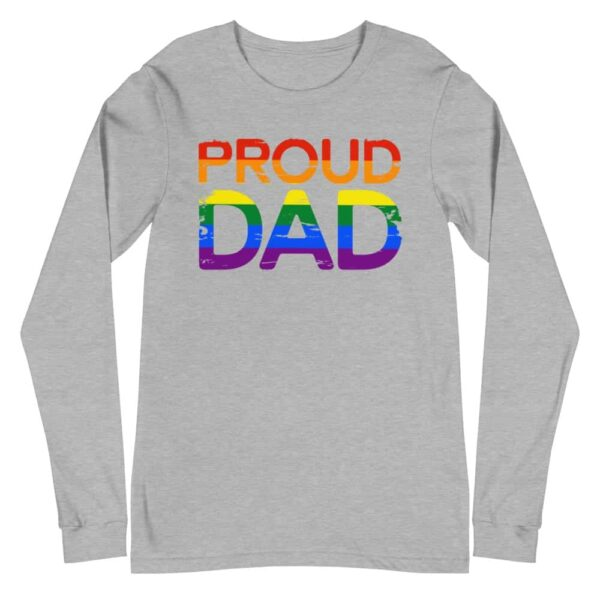 Proud Dad Rainbow Pride Long Sleeve Tshirt