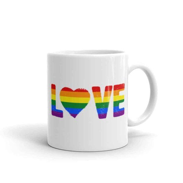 LOVE Rainbow Pride LGBTQ Coffee Mug