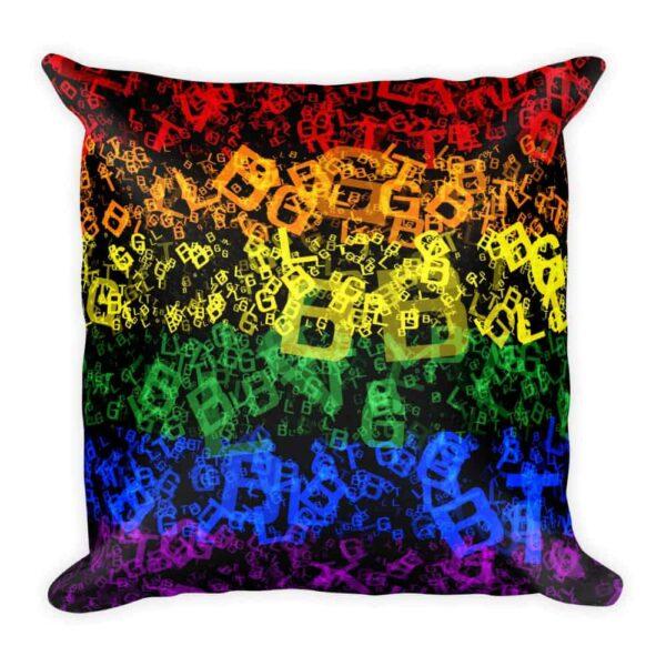 Rainbow LGBTQ Print Throw Pillow