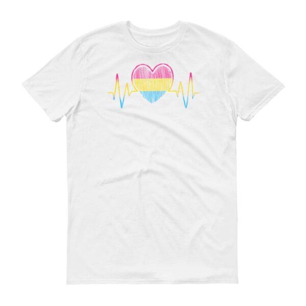 Pansexual Heartbeat LGBTQ Pride Tshirt