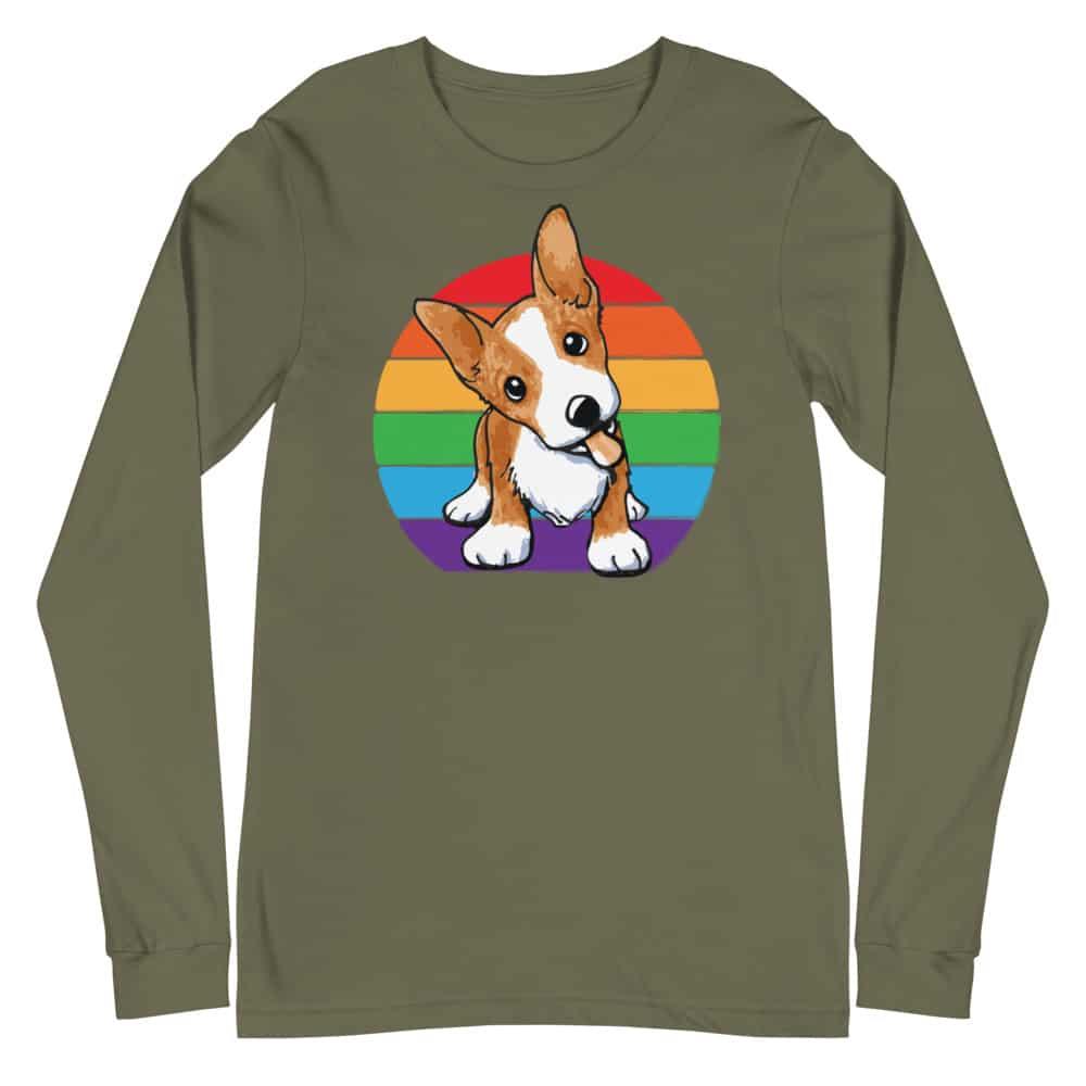 Corgi LGBTQ Pride Long Sleeve Tshirt